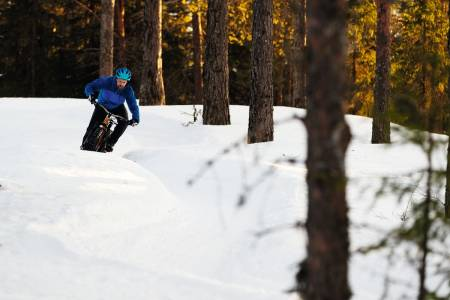 sykling vinter fatbike stisykling sti