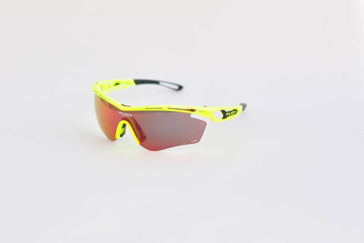 SYNLIGE: Rudy Procject Tralyx er sykkelbriller med veldig gode glass med en behagelig farge. Passformen er god og rammen myk.