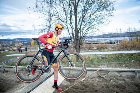Hopp-la: Erik Nordseter Resell i steget under et ritt i Spikkestad. Der arrangeres NM i sykkelkross 16. november. Foto: PÃ¥l Westgaard.