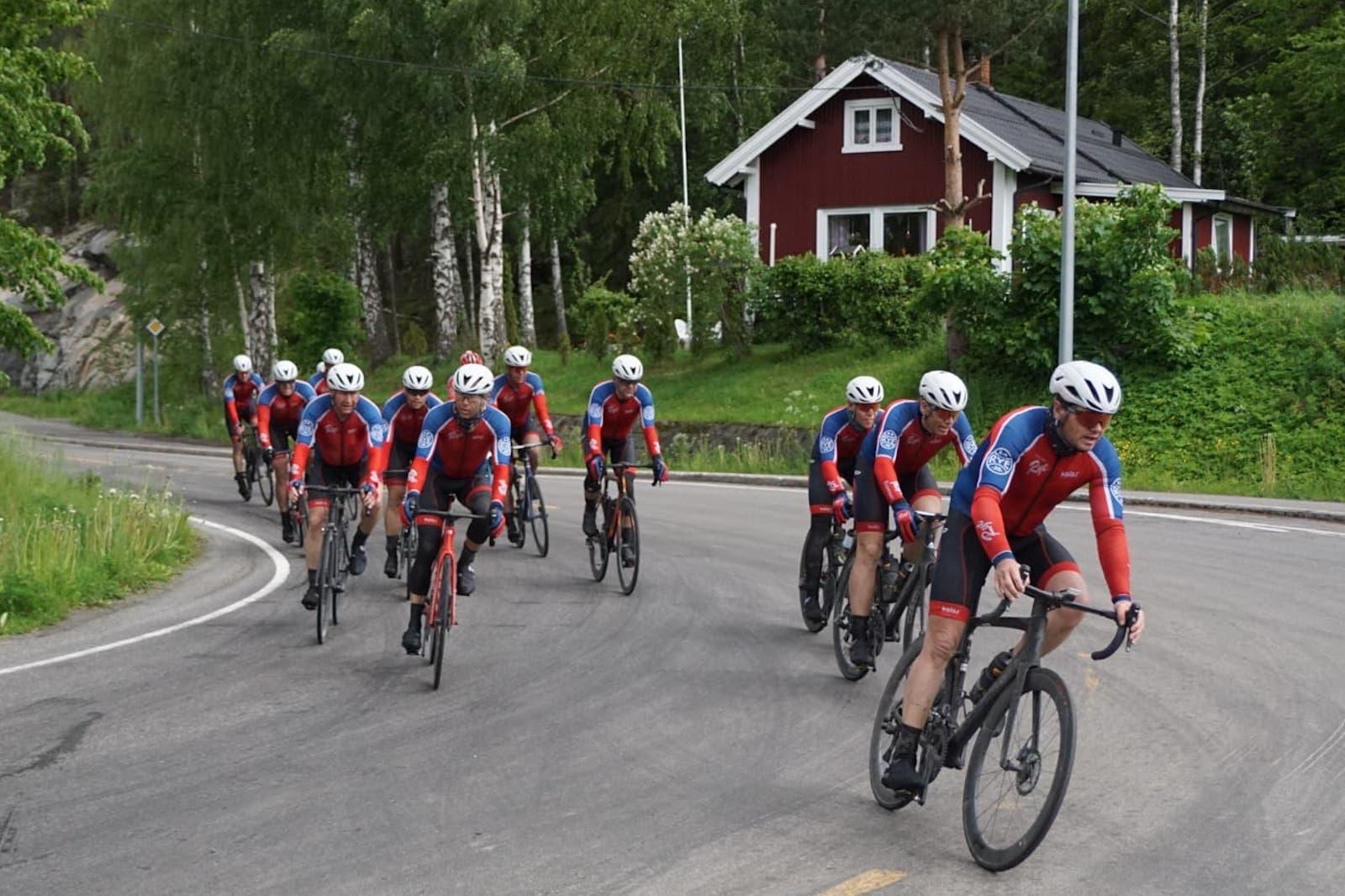 SLANK TROPP: Rye Expressen er færre enn vanlig til start på Trondheim-Oslo på lørdag, men stiller likevel med store ambisjoner og topp motivert. Foto: Bjørn Saksberg