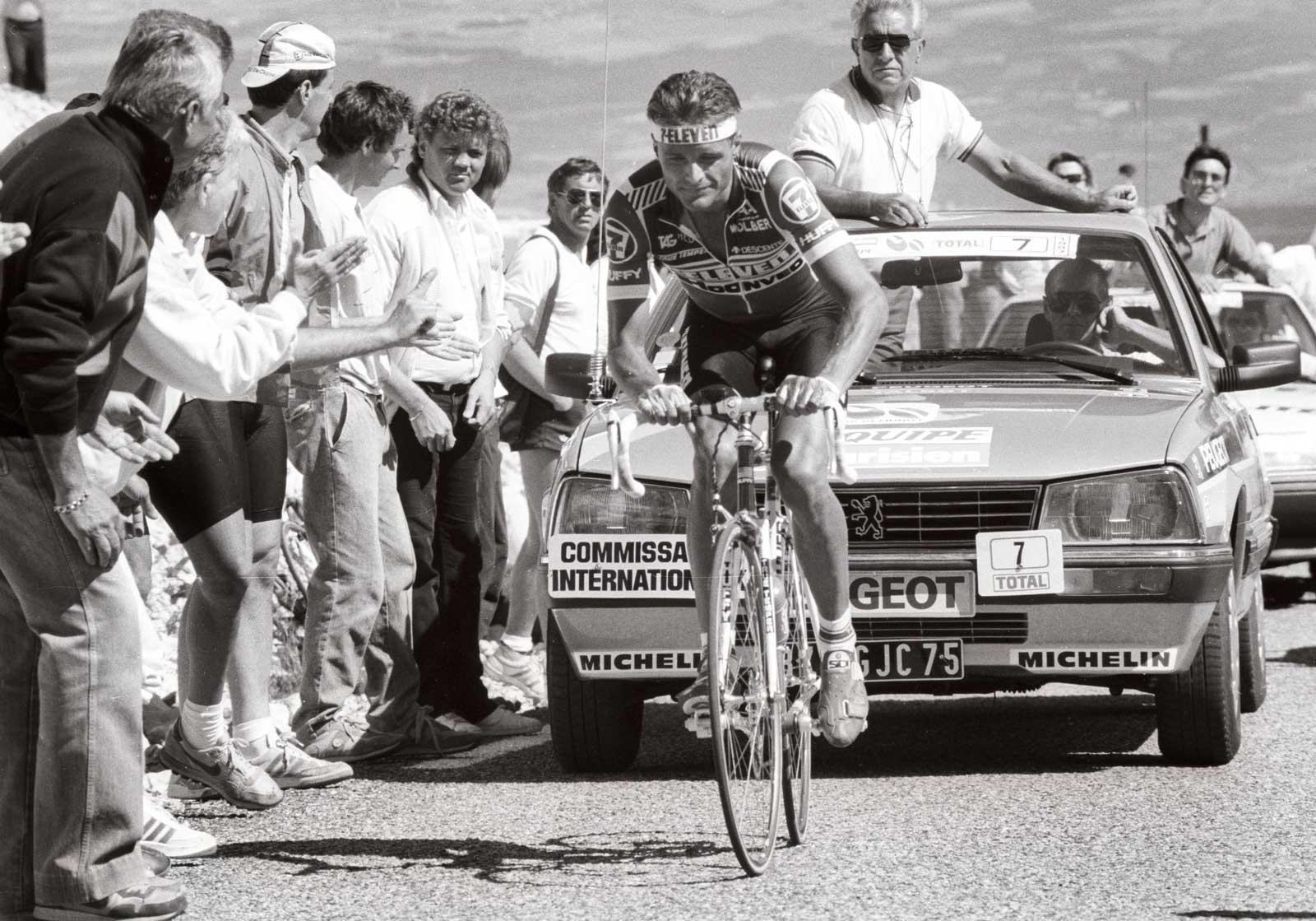 Kjekkas: Dag Otto Lauritzen var høyt og lavt under Tour de France 1987. At han plutselig var ute av sammendraget, gav ham muligheten til å vinne en etappeseier senere. Begge foto: Cor Vos.