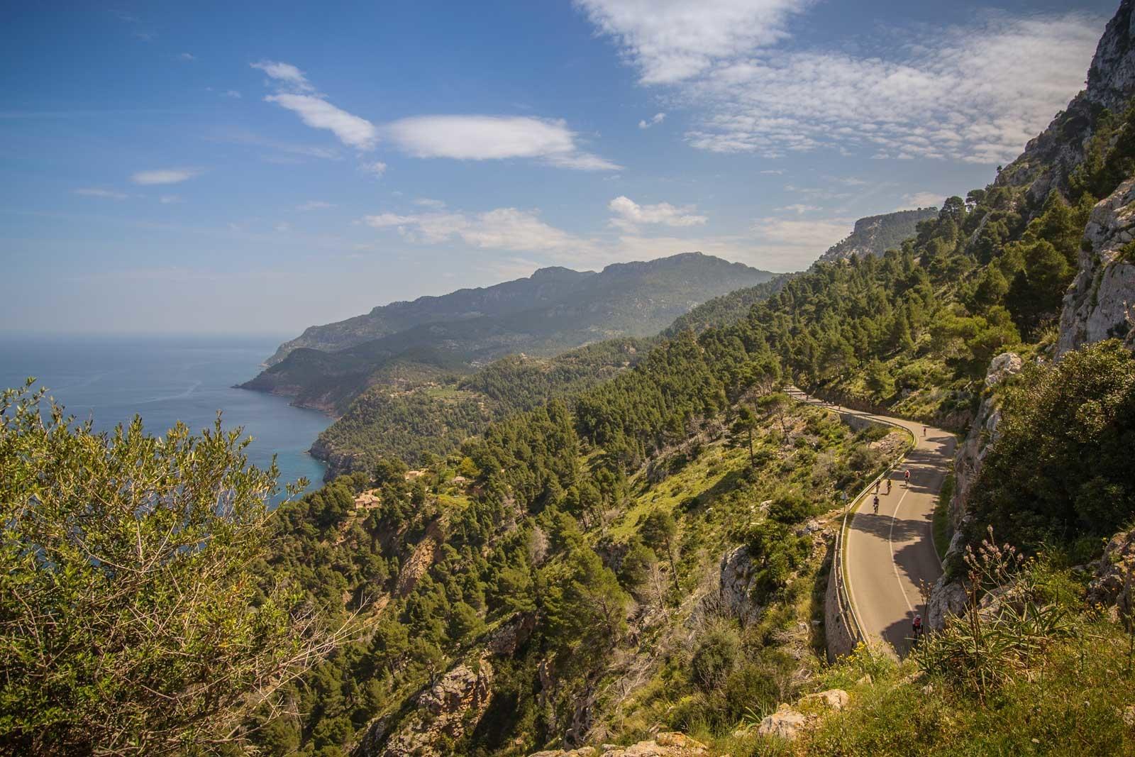 Alle elsker mallorca: Veien som går langs klippene på nordvestkysten er selvfølgelig en del av turrittet Mallorca 312. Foto: Rafa Babot.