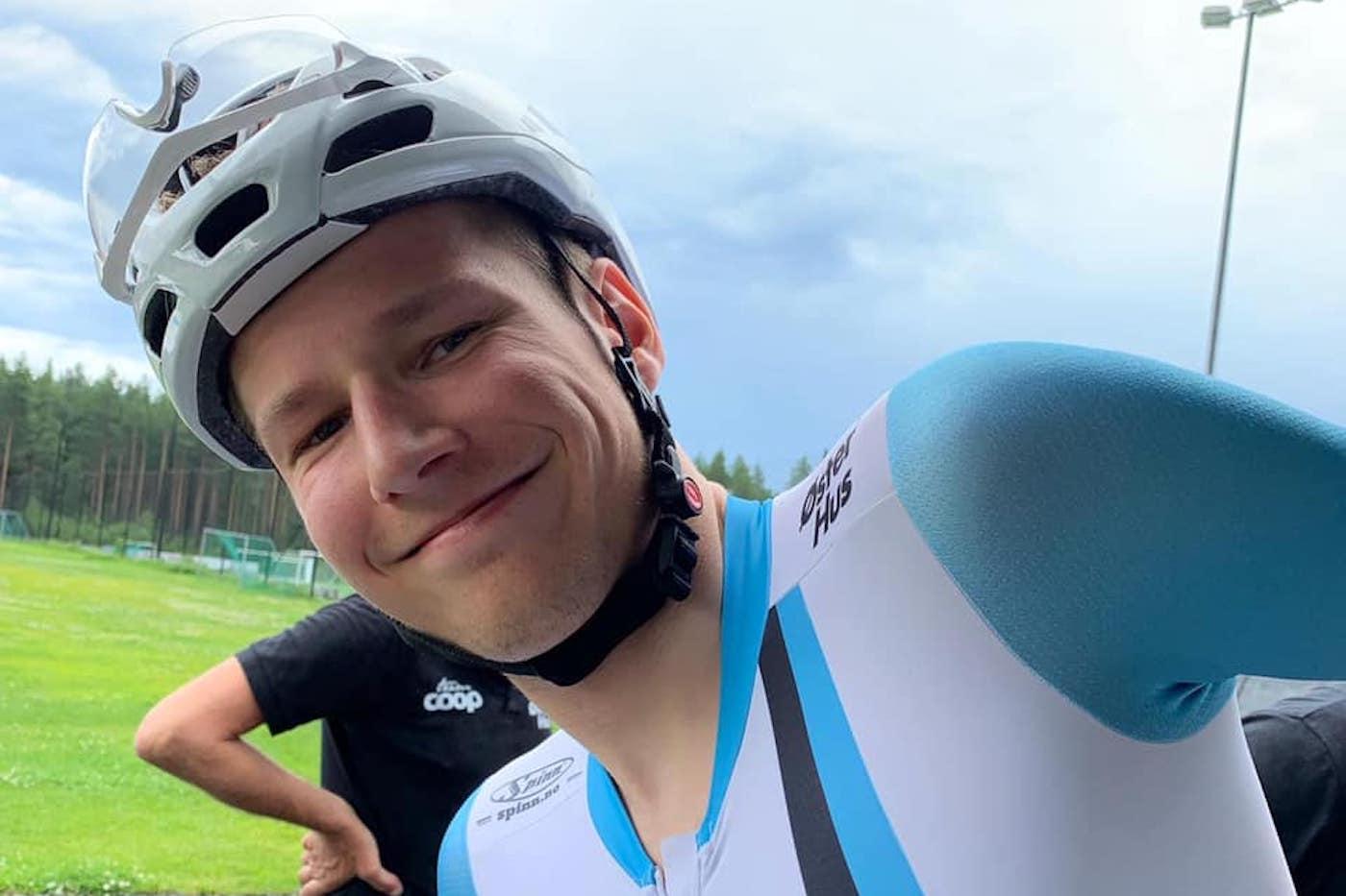 LEDER: HÃ¥kon Lunder Aalrust leder det svenske etter fem av seks etapper. Foto: Team Coop