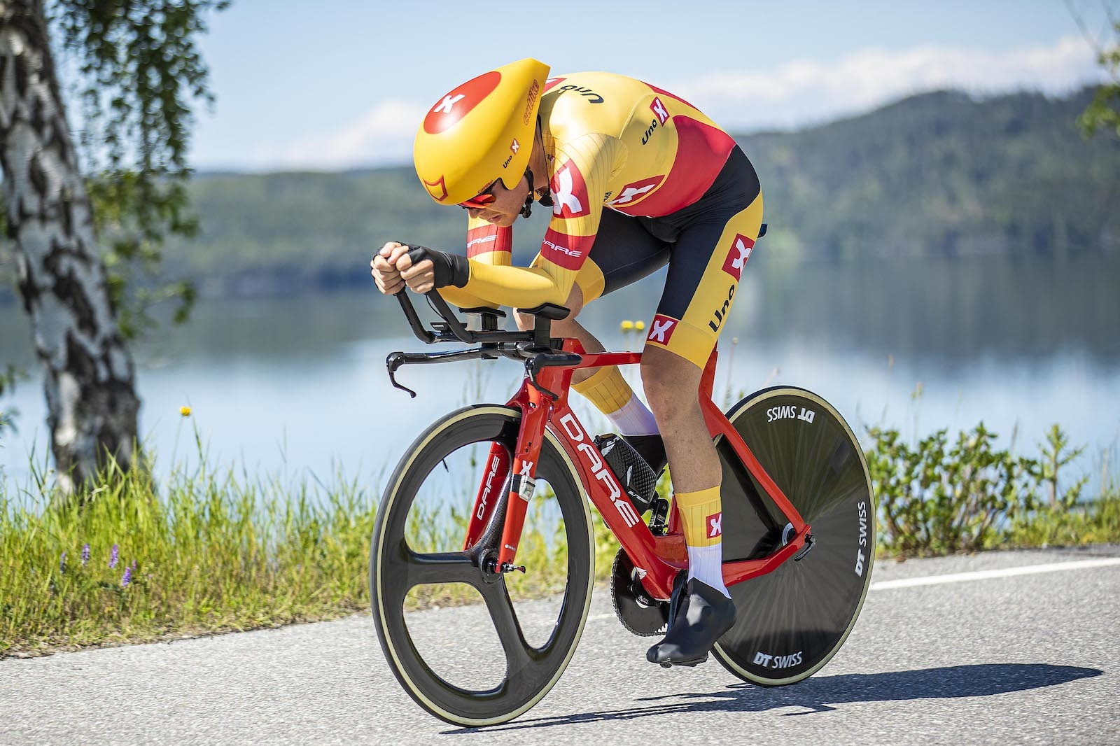 SUVEREN: Andreas Leknessund vant herrenes tempo Mot Klokka med over ett minutts margin. Foto: PÃ¥l Westgaard