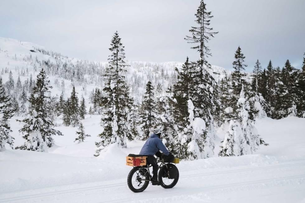 bikepacking overnatting vinter sykkel