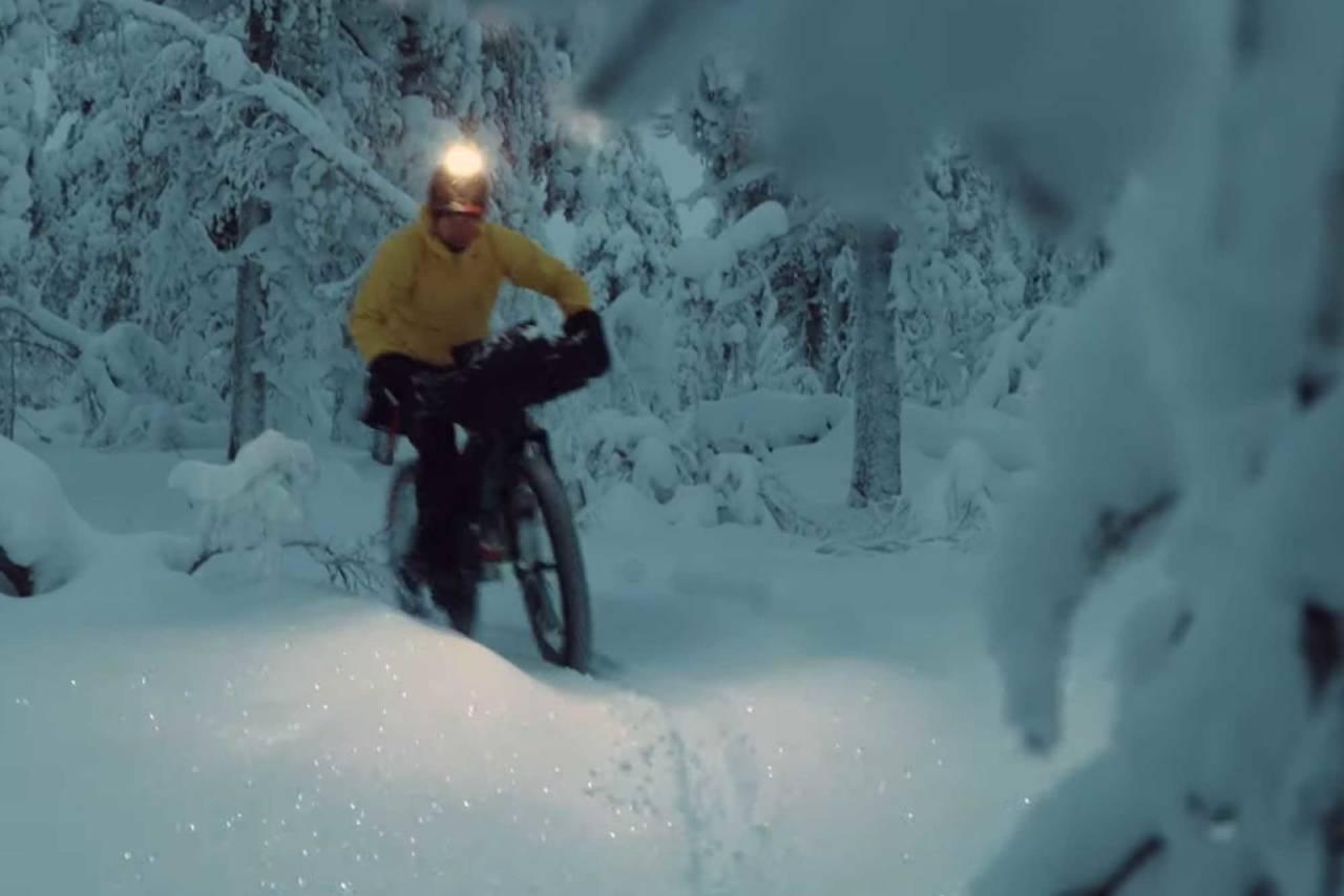 fatbike vintersykling overnatting