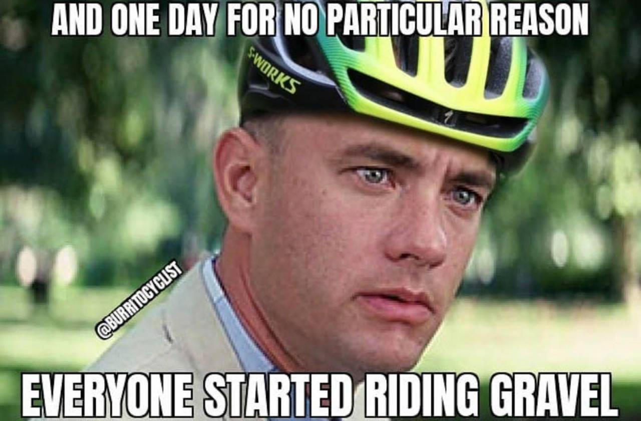 gravel grussykling kommentar skråblikk humor
