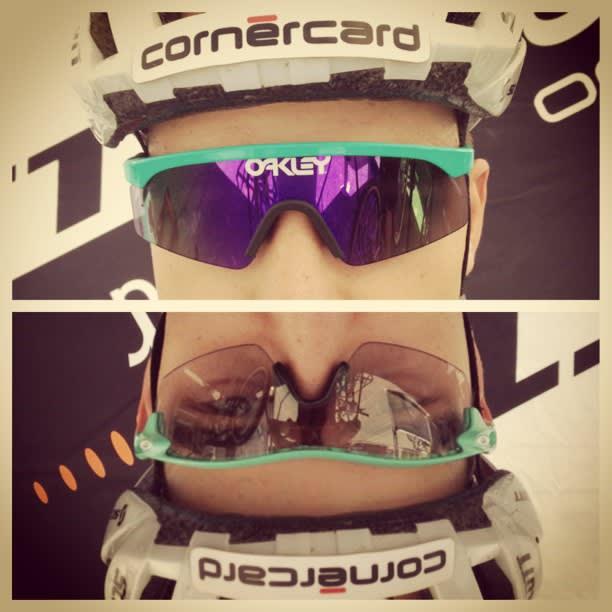 SCHURTERS BRILLER: Eyeshades og Radarlock i skjønn forening. Foto: Schurters Instagram
