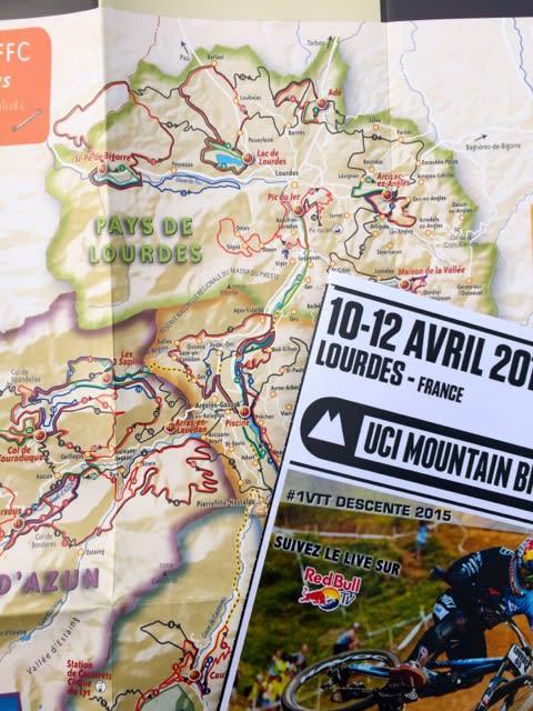 PÅ PLASS: Kaja tok turen til Lourdes for å bivåne verdenscupåpningen i utfor.