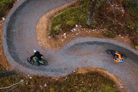 I løpet av 2018-sesongen er det registrert over 200 000 runder i Trysil Bike Arena. Det er 30 prosent mer enn i fjor. Foto: Fredrik Otterstad