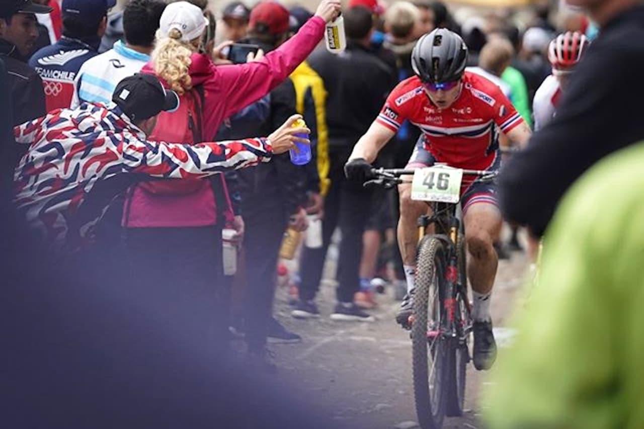 Jørgen Anmarkrud på vei mot 18.plass i rundbane-VM i Lenzerheide i Sveits. Foto: Petter Fagerhaug