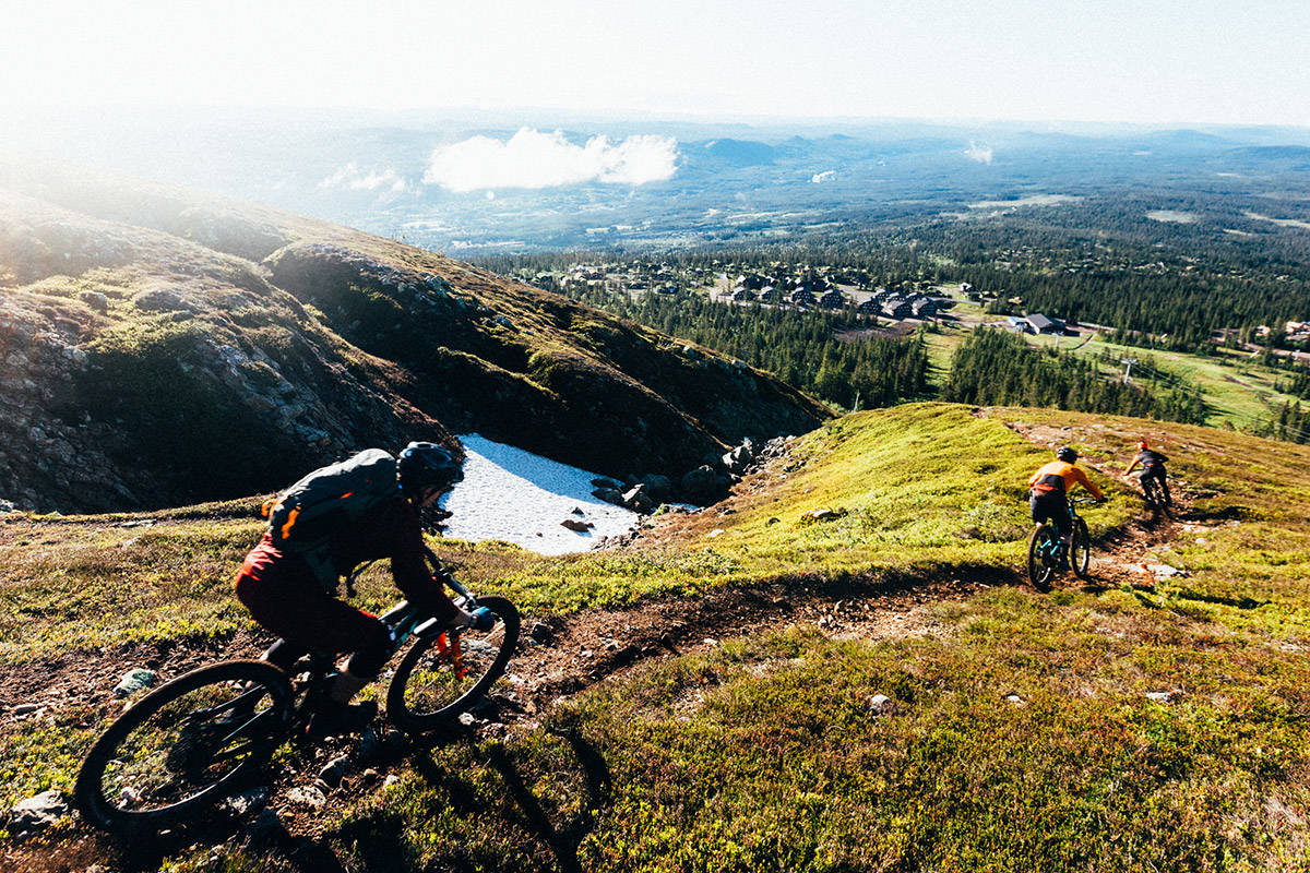 Syklist på Utfukt.