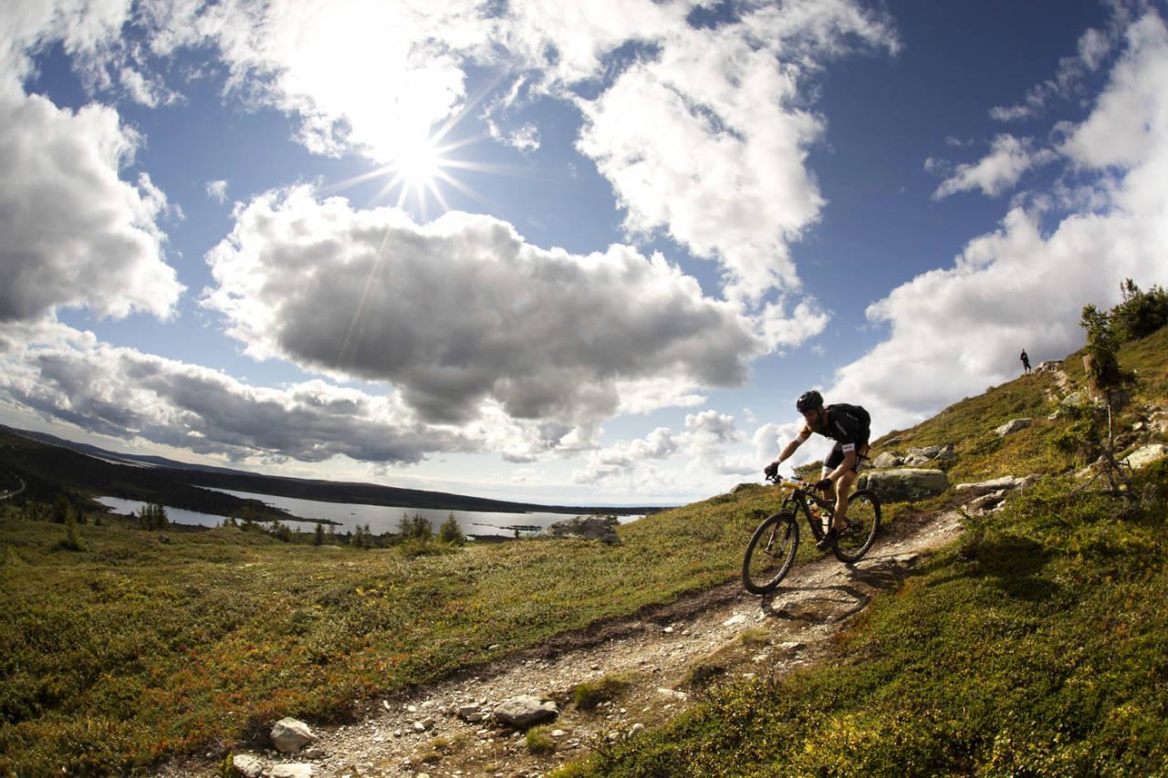 DRENGEN: Erik Skovgaard Knudsen var raskest av samtlige menn over fjellet i den krevende løypa. (foto: Kristoffer H. Kippernes)