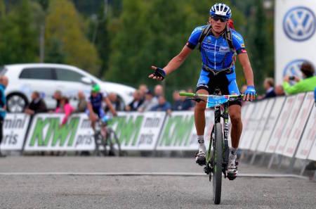 Frederik Wilmann vant Birken i 2014, etter en dramatisk avslutning der Åsmund Løvik kjørte feil på oppløpet. Foto: Kent Murdoch