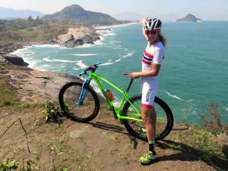 DRONNINGA I RIO. Terrengsykkel-dronning Gunn-Rita Dahle Flesjå går for medalje på lørdag.