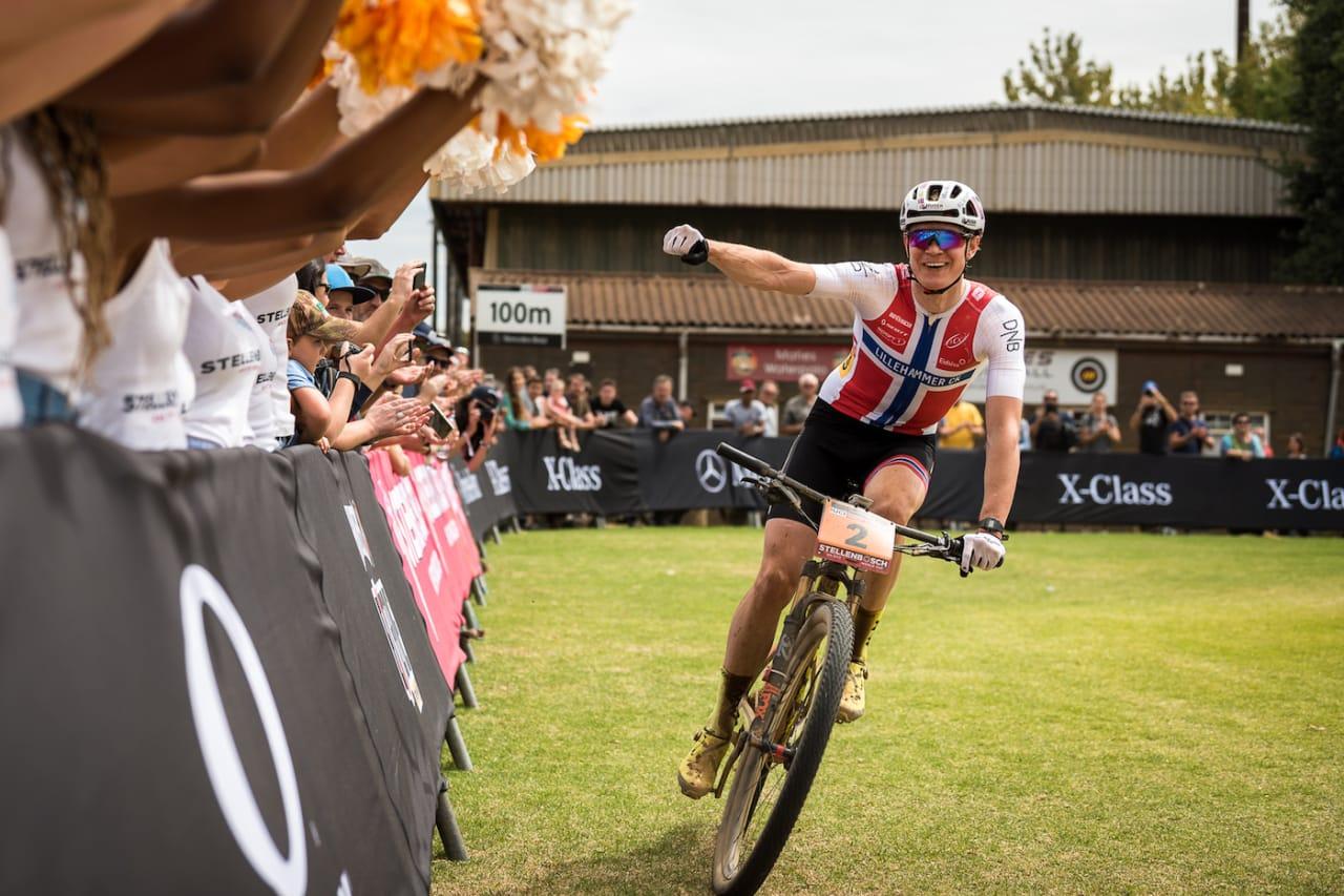 Petter Fagerhaug tok sin første verdenscupseier i Stellenbosch i Sør-Afrika på denne tida i fjor. Stellenbosch er ett av stedene som Cape Epic skal innom neste uke. Foto: EGO Promotion