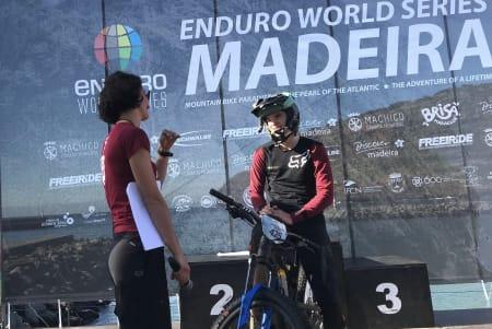 Magnus Slinger Sørli debuterte i Enduro World Series med 11,plass i U21-klassen under seriens tredje runde, som gikk på Madeira. Foto: Jon Sørli