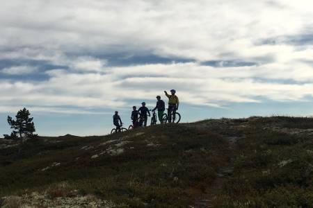 I løpet av helga var turfølget flere ganger på snaufjellet. Foto: Privat