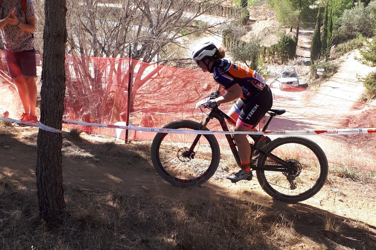 Elisabeth Sveum syklet inn til femteplass på UCI-rittet i Chelva i Spania sist helg. Foto: Vigdis Sveum