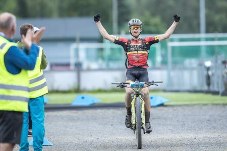 Juionern Ole Sigurd Rekdahl syklet inn til sjetteplass totalt i Birkebeinerrittet. Foto: Pål Westgaard