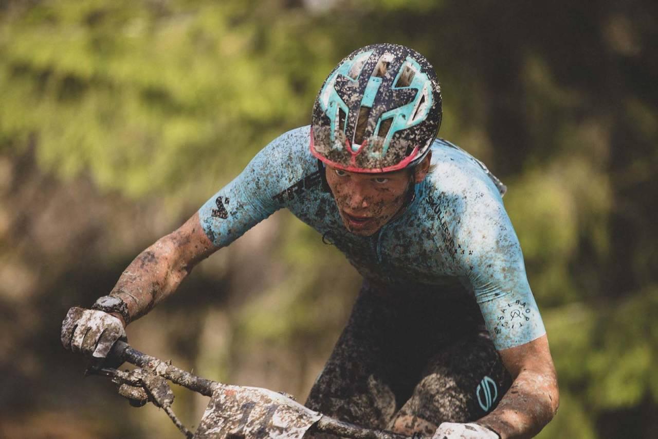 Knut Røhme er en av fire ryttere som sykler for det norske terrenglandslaget i de to neste verdenscuprundene. Foto: Kristoffer Kippernes