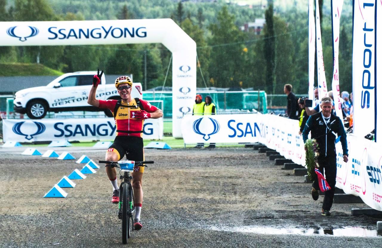 RASKEST: Erik Nordsæter Resell var desidert best i dag på tiden 02.32.54. Foto: Henrik Ulleland
