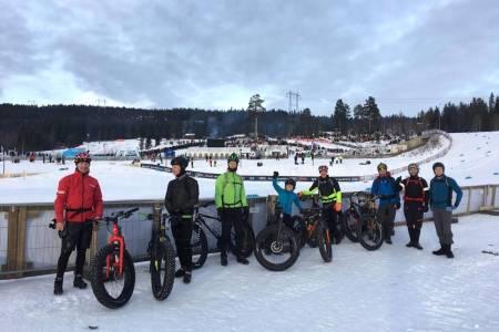 De skuterkjørte fatbikeløypene på Lillehammer vil starte på Birkebeineren skistadion. Foto: Tom Ruud