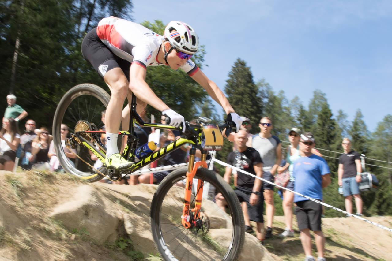 Petter Fagerhaug ligger på andreplass i verdenscupen sammenlagt i forkant av siste runde i La Bresse. Foto: Bengt Ove Sannes