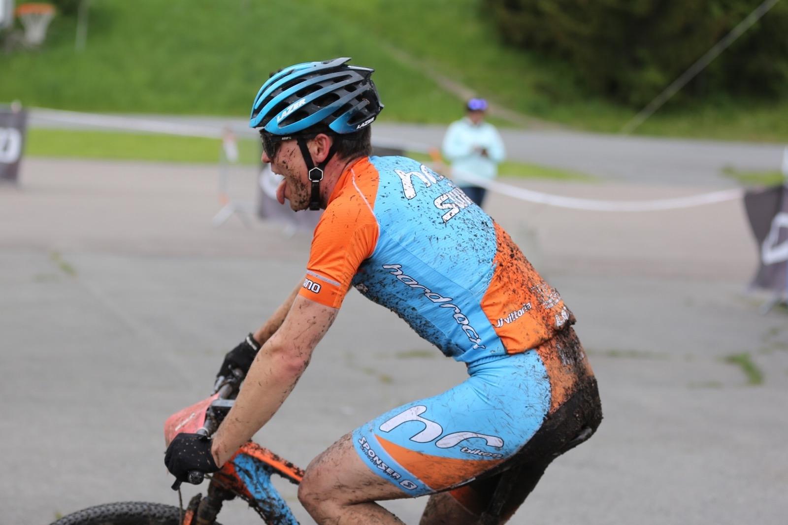 Emil Hasund Eid vant Terrengsykkelrittet for andre gang på rad. Foto: Marius Bache Wold