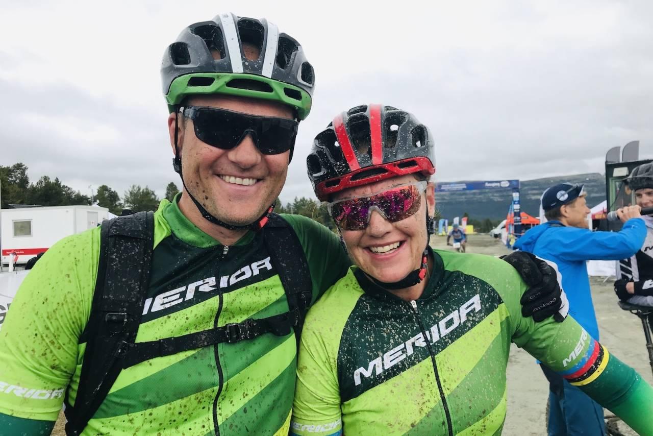 Gunn-Rita Dahle Flesjå og mannen Kenneth Flesjå er klare for Skaidi Xtreme i morgen. Foto: Stein B. Olsen
