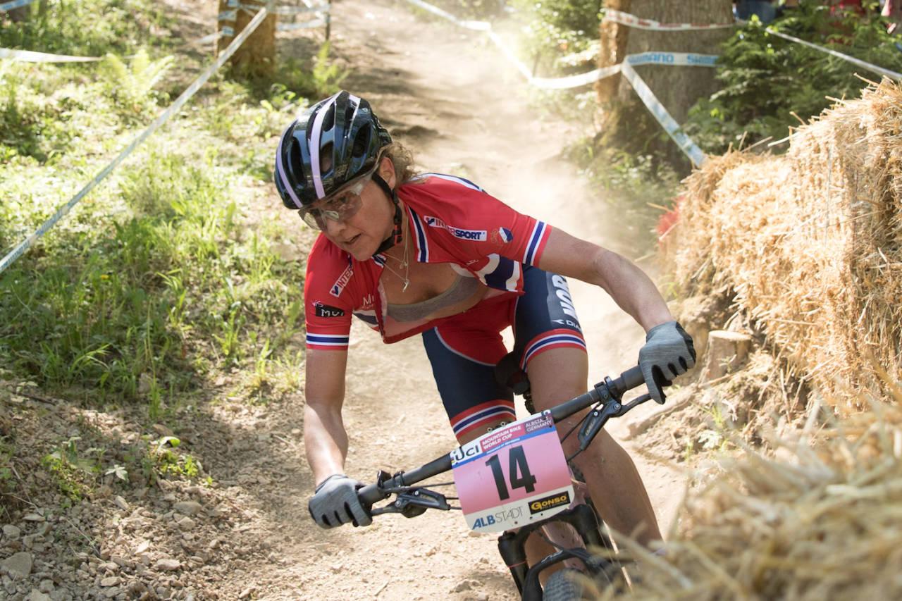 Gunn-Rita Dahle Flesjå var hele tida blant de topp 10, og endte til slutt på 9.plass. Foto: Bengt Ove Sannes