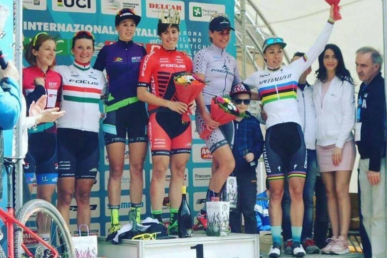 Gunn-Rita Dahle Flesjå ble nummer tre på Trofeo Delcar sist helg, som inngår i den italienske rundbanecupen. Foto: Focus XC