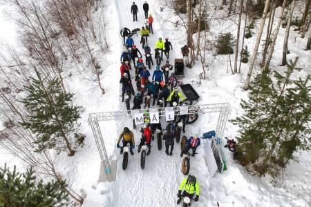 Nyttårsrittet ble arrangert for første gang i år, og ser ut til å bli en tradisjon i Drammensmarka. Foto: Kurt Inge Vågenes