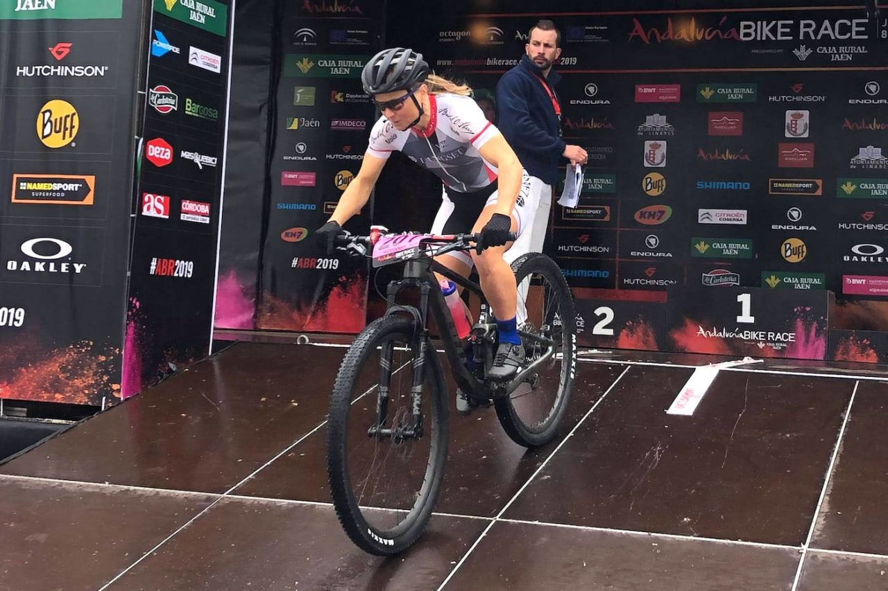 Hildegunn Gjertrud Hovdenak ble nummer to i prologen på Andalucia Bike Race. Foto: Kristin Bye Weyer-Larsen