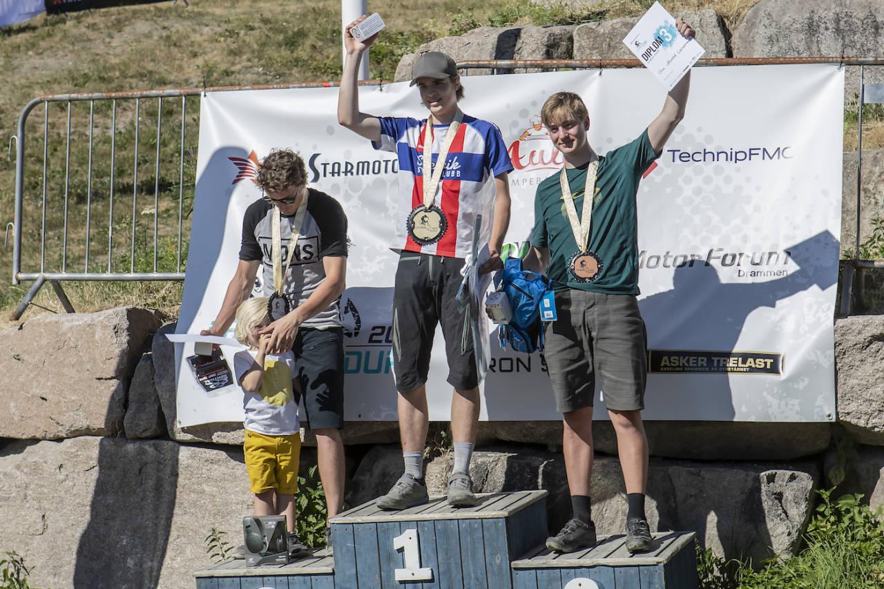 Magnus Slinger Sørli vant med nesten minuttet. Det var mer enn unggutten våget å satse på. Foto: Pål Westgaard