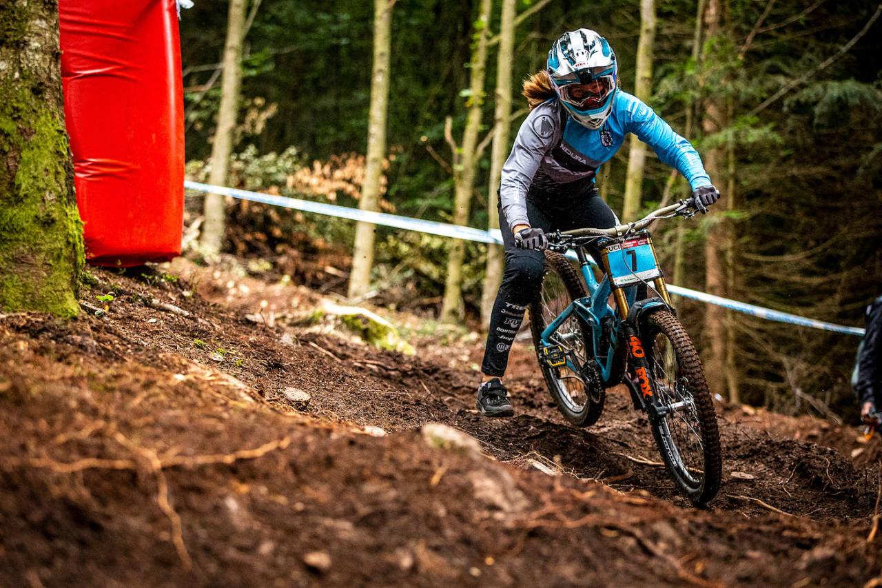 Mille Johnset ble nummer tre på sesongens siste verdenscup og nummer fire totalt. Foto: Sven Martin