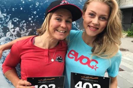 Hildegunn Gjertrud Hovdenak og Team Terrengsykkels Rakel Birkeli vant dameklassen i OF300 med knusende margin. Foto: Vilde Larsen