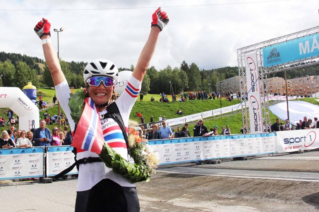 Borghild Løvset vant Birken for tredje gang. Foto: Ingeborg Scheve