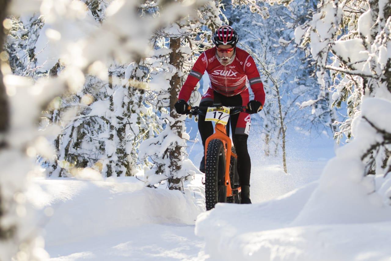 Vidar Mehl skal forsvare seieren på Lygna fra i fjor, da han ble (uoffisiell) norgesmester i fatbike. Dagen etter sykler han Stomperud Vinterritt på Sørum. Foto: