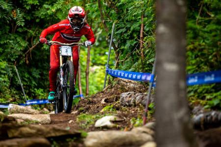 Mille Johnset tok sølv på utfor-VM i Mont-Sainte-Anne søndag formiddag. Foto: Sven Martin
