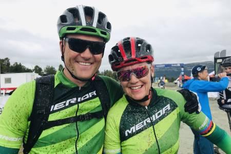 Gunn-Rita Dahle Flesjå syklet 70km turritt under Furusjøen Rundt på lørdag sammen med Kenneth Flesjå. Foto: Stein B. Olsen