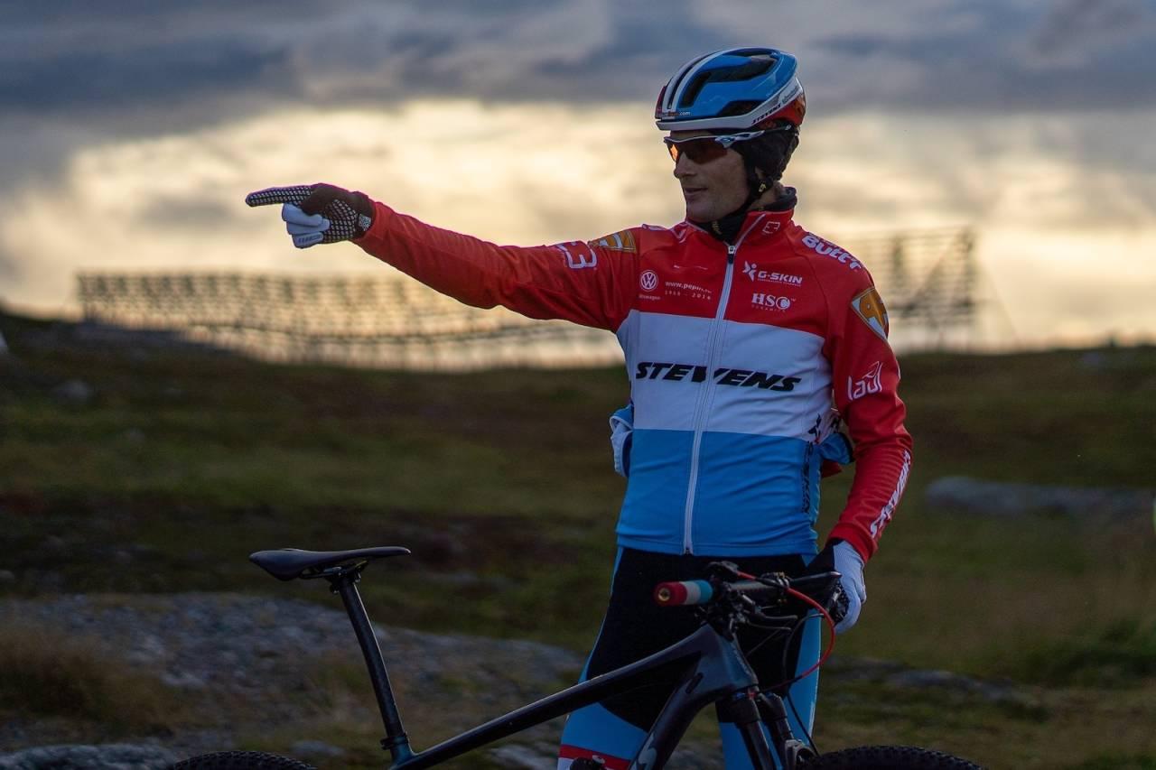 Søren Nissen, som sykler for det nederlandske laget Team Stevens, vant Skaidi Xtreme for fjerde gang. Foto: Frank Rune Isaksen/Skaidi Xtreme