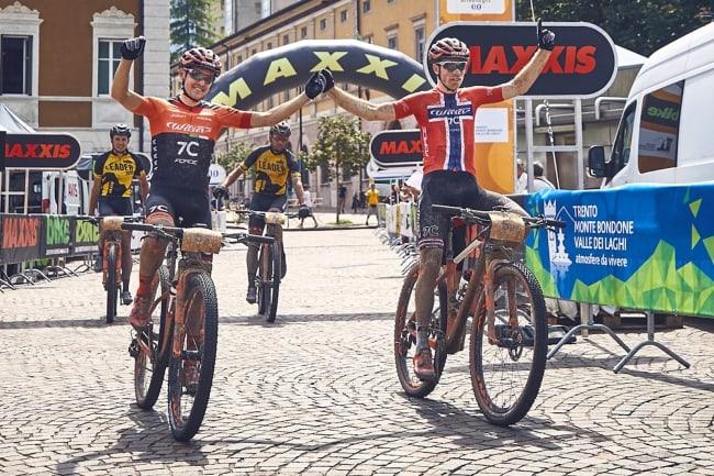 Ole Hem og Marco Rebagilati tok sin andre etappeseier i TransAlp og har forseglet pallen sammenlagt. Foto: TransAlp