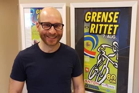 Vegard Halvorsen er ansatt som ny daglig leder i Grenserittet fra 1.mai i år. Foto: Halden SK