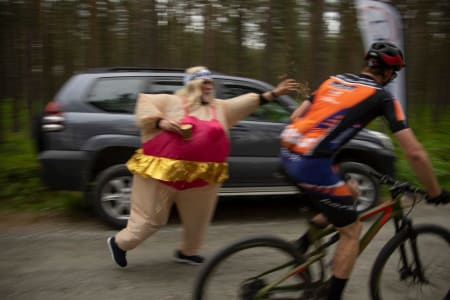 Eskil Evensen-Lie underveis på dagens etappe. Foto: Trans-Østerdalen
