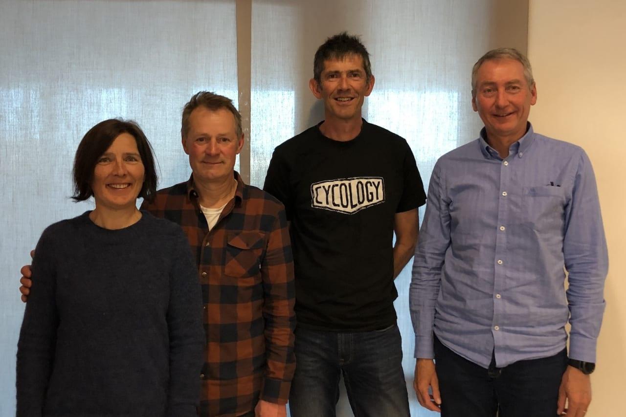 Disse styrer NOTS Asker: Ann-Christin Sørensen, Morten Jørgensen, Christian Cleve-Hansen og leder Ingvar Fleten. Foto: Lars Thomte