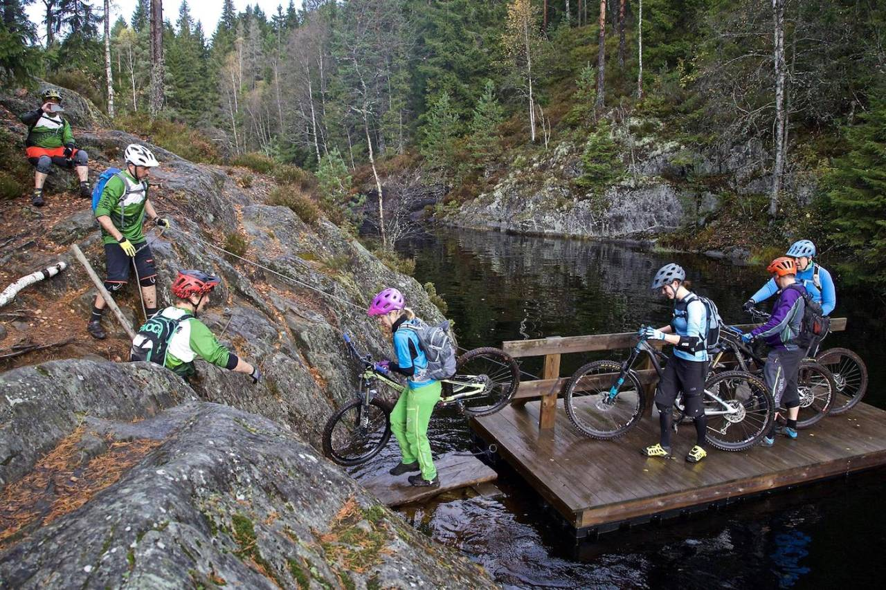 Fergetur var en del av lørdagens GTG-utflukt i Østmarka. Foto: Bjørn Enoksen