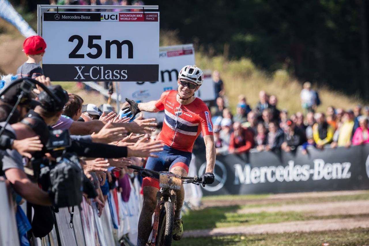 Petter Fagerhaug vant U23-klassen i rundbaneverdenscupen 2018. Fra 1. januar er han proff i det belgiske laget Corendon-Circus Cycling Team. Foto: NCF