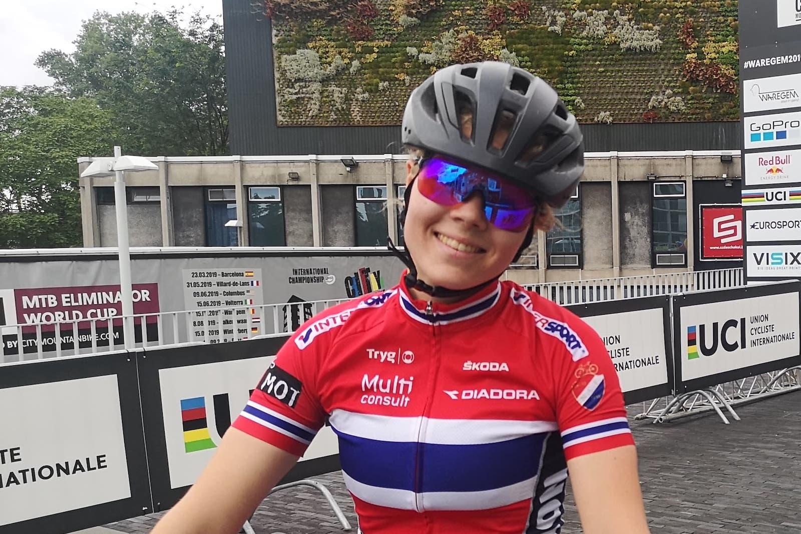 Anna Stray Rongve hadde formen på plass men uflaks i kvartfinalen under sprint-VM i Belgia i dag. Foto: Arvid Rongve