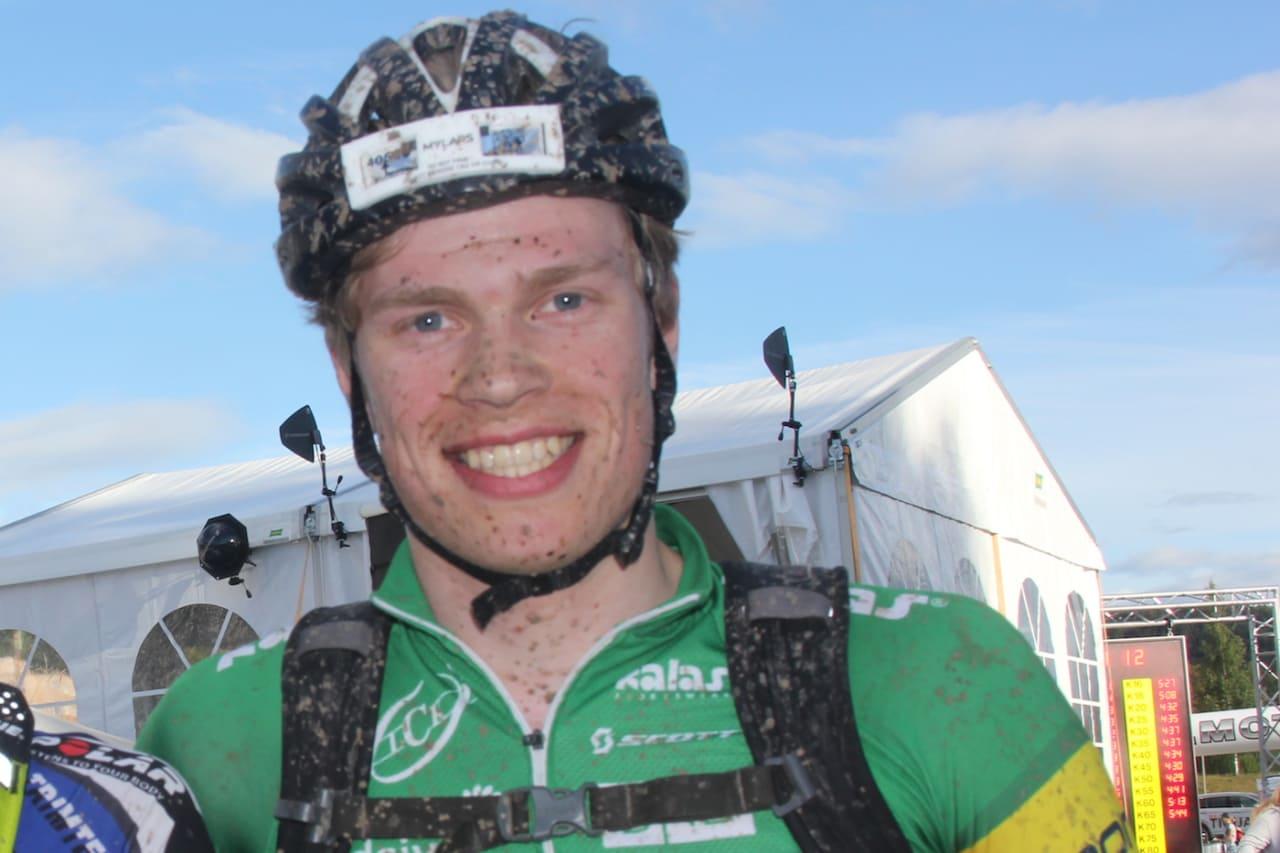 Sigurd Mellemsæter vant SykkelEnern på Oppdal. Foto: Ingeborg Scheve